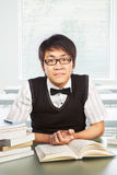 Chinese college male student Stock Photography