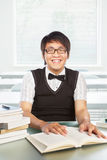 Chinese college male student Royalty Free Stock Images