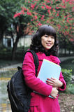 Chinese college student. Portrait of chinese college student royalty free stock photography