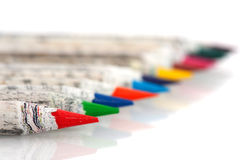 Chinese color pencils in a row Royalty Free Stock Photography