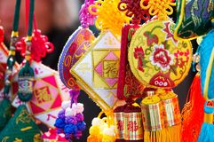 chinese colorful embroidery Stock Images
