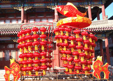 Chinese coloured lanterns Royalty Free Stock Photos