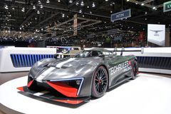 88th Geneva International Motor Show 2018 - Techrules Ren RS royalty free stock photo