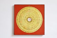 Chinese compass for measure Feng Shui in home Stock Images