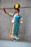 Chinese Concubine Costume. A woman models a replica of historical Chinese concubine attire. The costume was featured in a multicultural fashion show, put on by Royalty Free Stock Photography