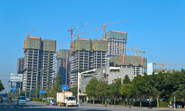 Chinese construction royalty free stock photos