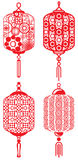 Chinese contemporary design lanterns set Stock Images