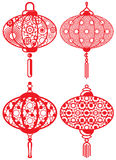 Chinese contemporary design lanterns set Stock Photo