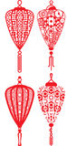 Chinese contemporary design lanterns set Stock Image