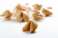 Chinese cookies fortune cookies. Isolated stock photography