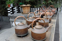 Chinese copper kettle Stock Photo