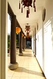 Chinese corridor in the building Royalty Free Stock Photo