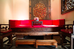 Chinese couch. In a restaurant in Beijing Royalty Free Stock Images