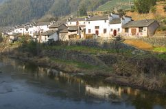 Chinese Country Village Stock Photo