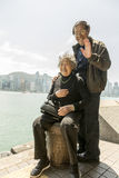 Chinese couple in Hong Kong Stock Images