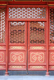 Chinese court style door Royalty Free Stock Photo