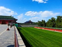Chinese courtyard. Beautiful Chinese courtyard outside the Temple of Heaven Royalty Free Stock Photography