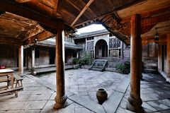 Chinese courtyard house Stock Image