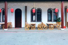 Chinese courtyard. The scenery of Chinese courtyard Stock Photos