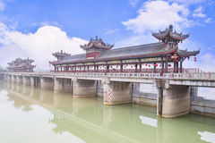 Chinese covered bridge Stock Images