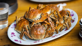 Chinese Crab feast Stock Images