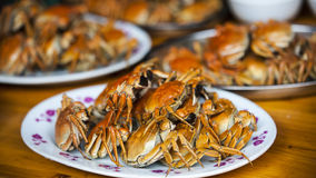 Chinese Crab feast Royalty Free Stock Image