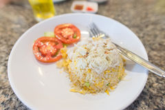 Chinese crab fried rice Royalty Free Stock Photos
