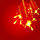 Chinese cracker background Stock Photos