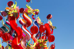 Chinese craft paper dragon Stock Photography