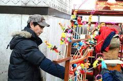 Chinese craftsman. At culture street Tianjin China photoed on january 26th 2014 Stock Photo