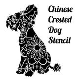 Chinese crested dog stencil.  Stock Photo