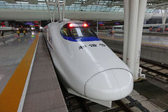 Chinese CRH fast train stock images