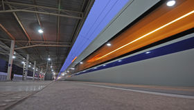 Chinese CRH  fast train pass railway station Royalty Free Stock Photos