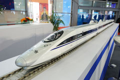 Chinese CRH380A high speed train model royalty free stock photography