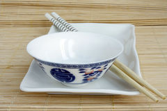Chinese   crockery set. On mat Stock Image