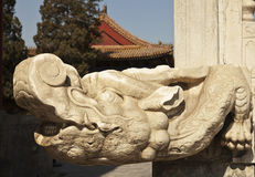 Chinese Crocodile Stone Carving Stock Images