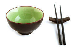 Chinese cuisine. Chinese sticks and bowl for meal Stock Photo