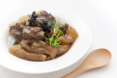 Chinese cuisine, beef stew and beef tendon Royalty Free Stock Images