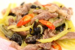 Chinese cuisine. Pork chilies Royalty Free Stock Photo