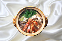 Chinese Cuisine,Clamp crab tofu stew royalty free stock image
