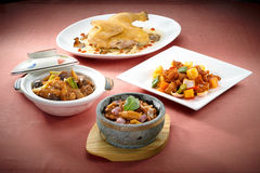 Chinese cuisine. In color  background Royalty Free Stock Photo