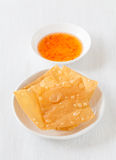 Chinese cuisine deep fried wonton Royalty Free Stock Photography