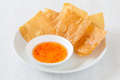 Chinese cuisine deep fried wonton Stock Photography
