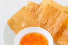 Chinese cuisine deep fried wonton Royalty Free Stock Image