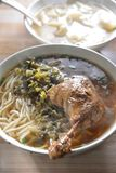 Duck Wing rice noodle soup. Chinese cuisine Duck Wing rice noodle soup royalty free stock photos