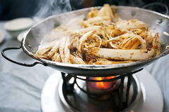 Chinese cuisine - fried cabbage Royalty Free Stock Images