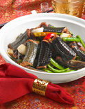 Chinese cuisine Fried eel Stock Image