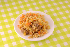 Chinese cuisine - fried rice with meat Stock Image