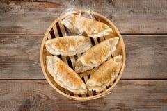 Chinese Cuisine Pan Fried Dumplings Stock Images