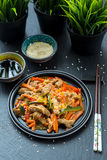 Chinese Cuisine - Pork with Vegetables Deep Fried in Sour-Sweet Sauce Stock Photo